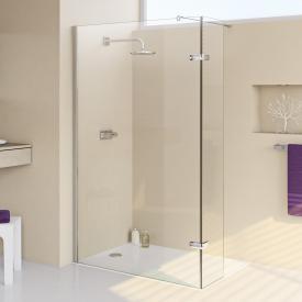 HÜPPE Enjoy elegance teilgerahmte Walk In Seitenwand mit beweglichem Segment ESG klar / chrom