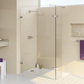 HÜPPE Enjoy elegance rahmenlose Walk In Seitenwand mit beweglichem Segment ESG klar / silber hochglanz