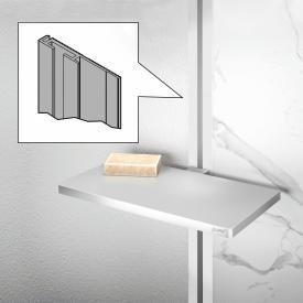 HÜPPE Select+ Abschlussprofil für EasyStyle Wandverkleidung weiß/grau