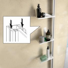 HÜPPE Select+ Innen/Außenprofil für Duschkabinen silber hochglanz