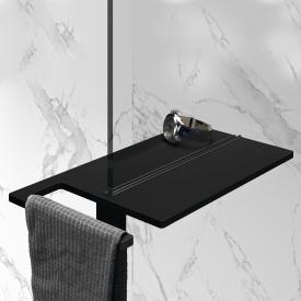 HÜPPE Select+ Shower Board geklemmt black edition