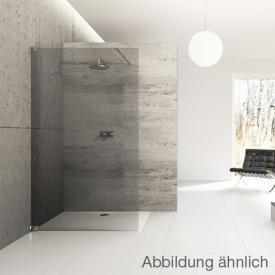 Hüppe Studio Berlin pure rahmenlose 4-Eck Seitenwand alleinstehend ESG klar mit ANTI-PLAQUE / chrom