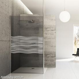 Hüppe Studio Berlin pure teilgerahmte 4-Eck Seitenwand alleinstehend ESG klar mit ANTI-PLAQUE / chrom