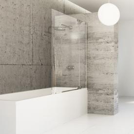 Hüppe Studio Berlin pure teilgerahmte Badewannenabtrennung 1-teilig mit Festsegment ESG klar mit ANTI-PLAQUE / chrom