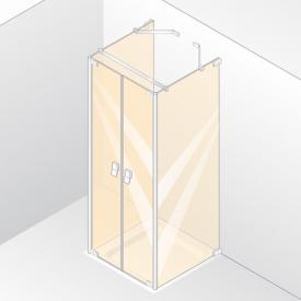 Hüppe Studio Berlin pure rahmenlose Pendeltür mit 2 Seitenwänden ESG klar mit ANTI-PLAQUE / chrom