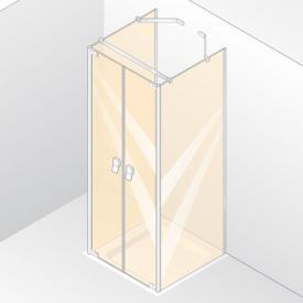 HÜPPE Studio Berlin pure teilgerahmte Pendeltür mit 2 Seitenwänden ESG klar mit ANTI-PLAQUE / chrom