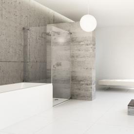 Hüppe Studio Berlin pure Schwingtür mit kurzer Seitenwand ESG klar mit ANTI-PLAQUE / chrom