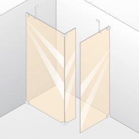 Hüppe Studio Berlin pure rahmenlose Walk In Modell 2 ESG klar mit ANTI-PLAQUE / chrom