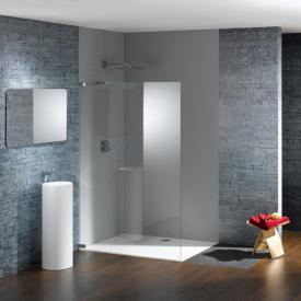 Hüppe Studio Paris elegance rahmenlose 4-Eck Seitenwand alleinstehend ESG klar / chrom