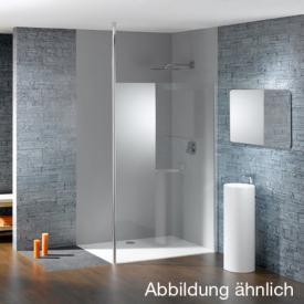 Hüppe Studio Paris elegance teilgerahmte 4-Eck Seitenwand alleinstehend ESG klar / chrom, Rechtsbefestigung