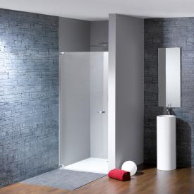 Hüppe Studio Paris elegance rahmenlose Schwingtür in Nische ESG klar ANTI-PLAQUE / chrom, Linksbefestigung