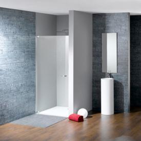 Hüppe Studio Paris elegance teilgerahmte Schwingtür in Nische ESG klar mit ANTI-PLAQUE / chrom