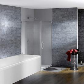 Hüppe Studio Paris elegance rahmenlose Schwingtür mit kurzer Seitenwand ESG klar mit ANTI-PLAQUE / chrom