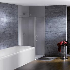 Hüppe Studio Paris elegance teilgerahmte Schwingtür mit kurzer Seitenwand ESG klar mit ANTI-PLAQUE / chrom