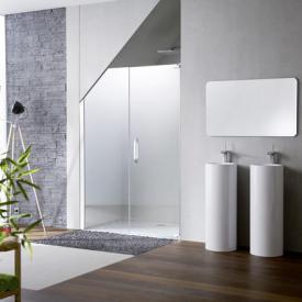 HÜPPE Studio Paris elegance teilgerahmte Schwingtür mit Nebenteil in Nische ESG klar mit ANTI-PLAQUE / chrom
