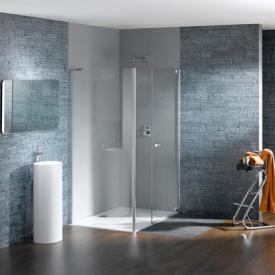 HÜPPE Studio Paris elegance teilgerahmte Schwingtür mit Nebenteil und Seitenwand ESG klar mit ANTI-PLAQUE / chrom