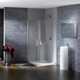 HÜPPE Studio Paris elegance teilgerahmter Schwingtüreckeinstieg ESG klar mit ANTI-PLAQUE / chrom