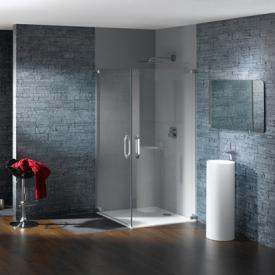 HÜPPE Studio Paris elegance rahmenloser Schwingtüreckeinstieg ESG klar mit ANTI-PLAQUE / chrom
