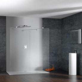 HÜPPE Studio Paris elegance rahmenlose Seitenwand freistehend ESG klar mit ANTI-PLAQUE / chrom