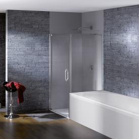 Hüppe Studio Paris elegance teilgerahmte Schwingtür mit kurzer Seitenwand ESG klar / chrom, Linksbefestigung