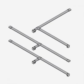 HÜPPE X-Tensa T-Verbinder Set silber hochglanz