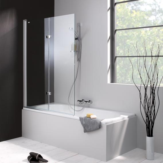 HÜPPE 501 Design pure Badewannenabtrennung Schwingfalttür ESG klar / silber matt