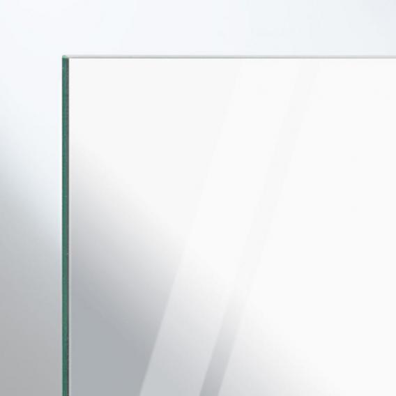 HÜPPE Aura elegance 1/4 Kreis Schwingtür mit festen Segmenten 2-flügelig ESG klar mit ANTI-PLAQUE / silber matt