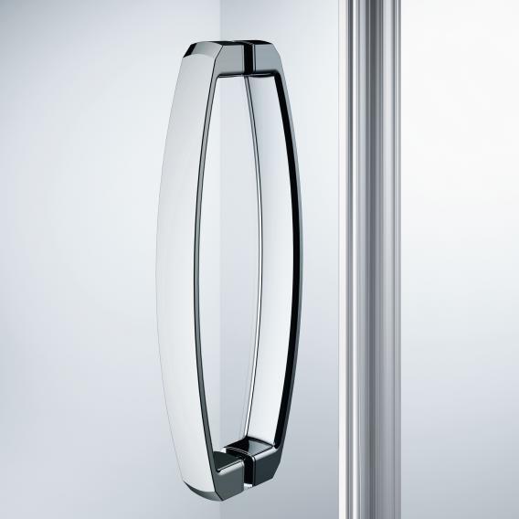 HÜPPE Aura elegance Schwingtüreckeinstieg mit festen Segmenten ESG klar mit ANTI-PLAQUE / chrom