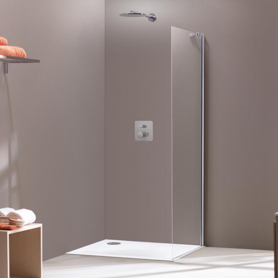 HÜPPE Aura elegance Seitenwand ESG klar / silber matt