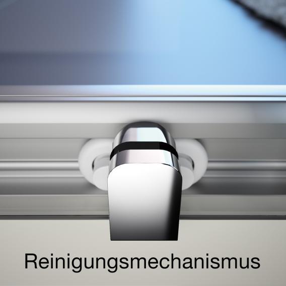 HÜPPE Classics 2 1/4 Kreis Gleittür ESG klar / silber matt