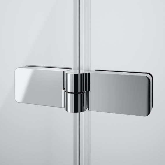 HÜPPE Design pure Schwingfalttür ESG klar mit ANTI-PLAQUE / silber matt