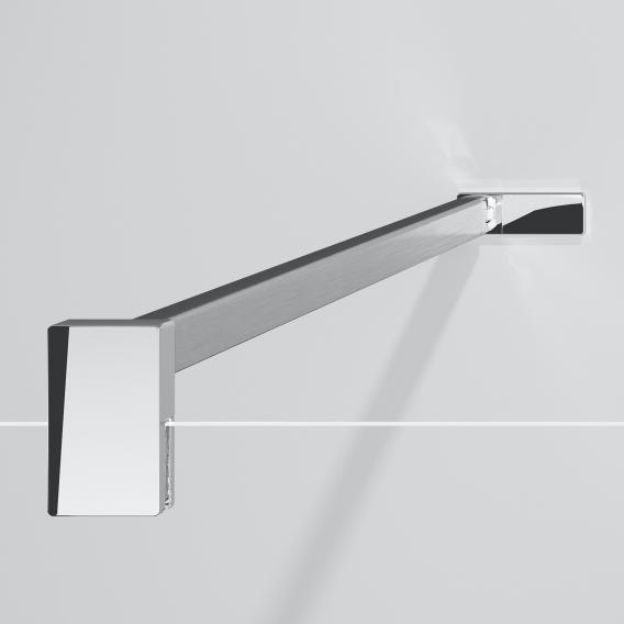 HÜPPE Design pure Seitenwand alleinstehend ESG klar mit ANTI-PLAQUE / chrom