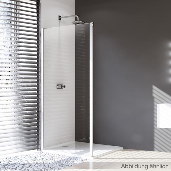 HÜPPE Design pure Seitenwand für Gleittür 1-teilig mit festem Segment ESG klar / silber matt