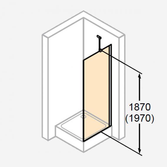 HÜPPE Design pure Seitenwand für Schwingtür ESG klar / silber matt
