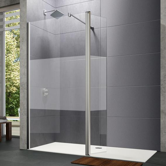 HÜPPE Design pure Walk In Seitenwand mit beweglichem Segement ESG privatima mit ANTI-PLAQUE / chrom