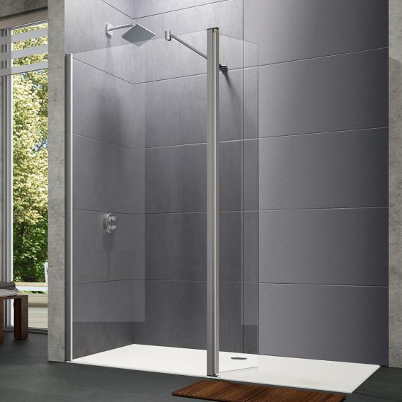 HÜPPE Design pure Walk In Seitenwand mit beweglichem Segement ESG klar / silber matt