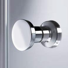 HÜPPE Enjoy pure teilgerahmte 1/4 Kreis Schwingtür mit festen Segmenten 2-flügelig ESG klar / chrom