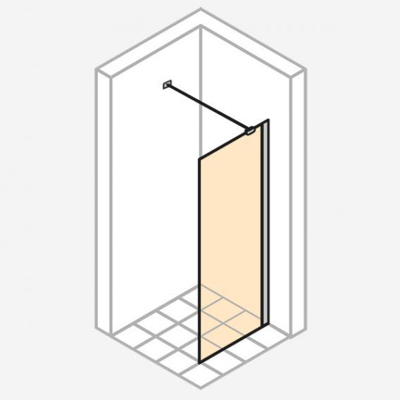 HÜPPE Enjoy pure teilgerahmte Seitenwand alleinstehend ESG klar mit ANTI-PLAQUE / chrom