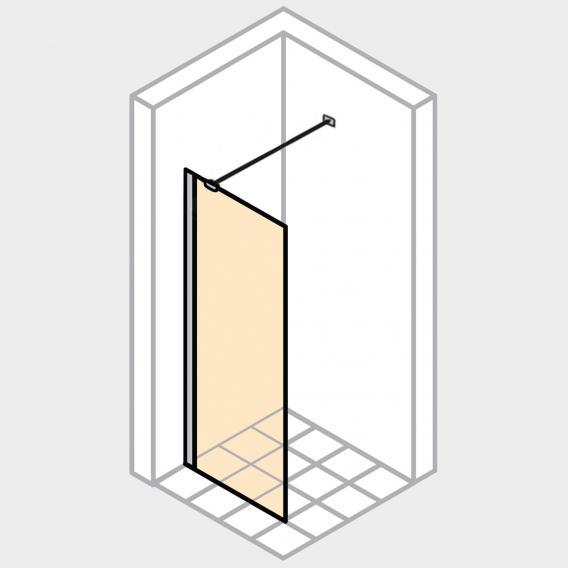 HÜPPE Enjoy pure teilgerahmte Seitenwand alleinstehend ESG klar mit ANTI-PLAQUE / chrom, mit Querverstrebung
