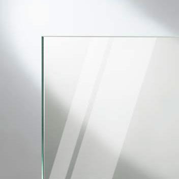 HÜPPE Enjoy pure teilgerahmte Seitenwand für Schwingtür mit festem Segment ESG klar mit ANTI-PLAQUE / chrom