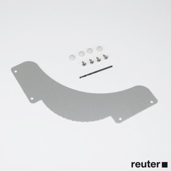 HÜPPE Ersatzteil Aufnahme für Schwallschutzleiste L/R mit Abschlusskappe
