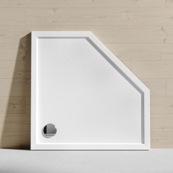 HÜPPE Purano Fünfeck-Duschwanne mit Antirutsch weiß mit rutschhemmender Oberfläche