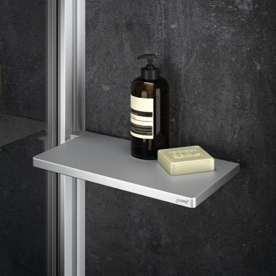 HÜPPE Select+ Seitenwand alleinstehend 6/8 mm ESG klar mit ANTI-PLAQUE / silber matt