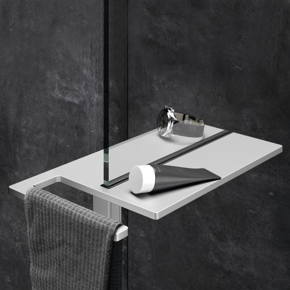 HÜPPE Select+ Shower Board geklemmt silber matt