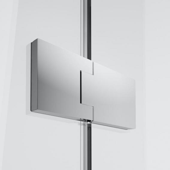 HÜPPE Solva pure teilgerahmte Walk-In Seitenwand mit beweglichem Segment ESG klar mit TIMELESS / chrom