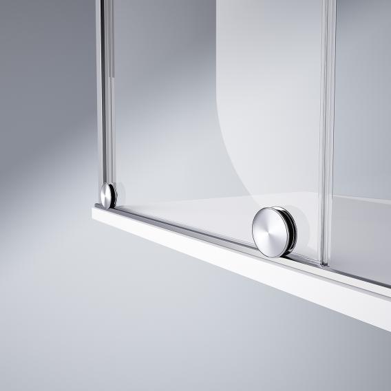 HÜPPE Xtensa pure Gleittüreckeinstieg 2-teilig ESG klar / silber hochglanz