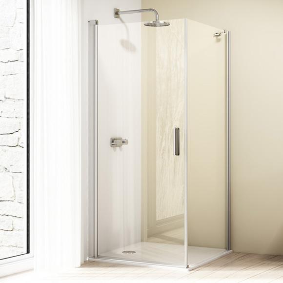 HÜPPE Design elegance Seitenwand für Schwingtür ESG klar / silber matt