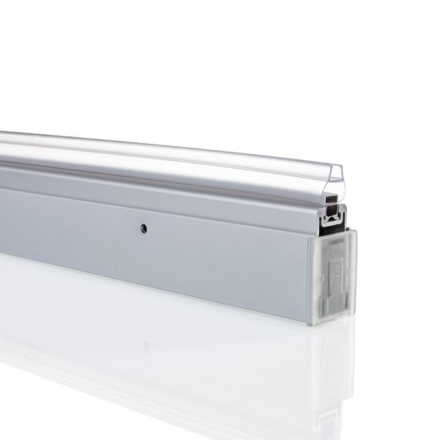 HÜPPE Design pure Ergänzungsset in Nische für Pendeltüren silber matt