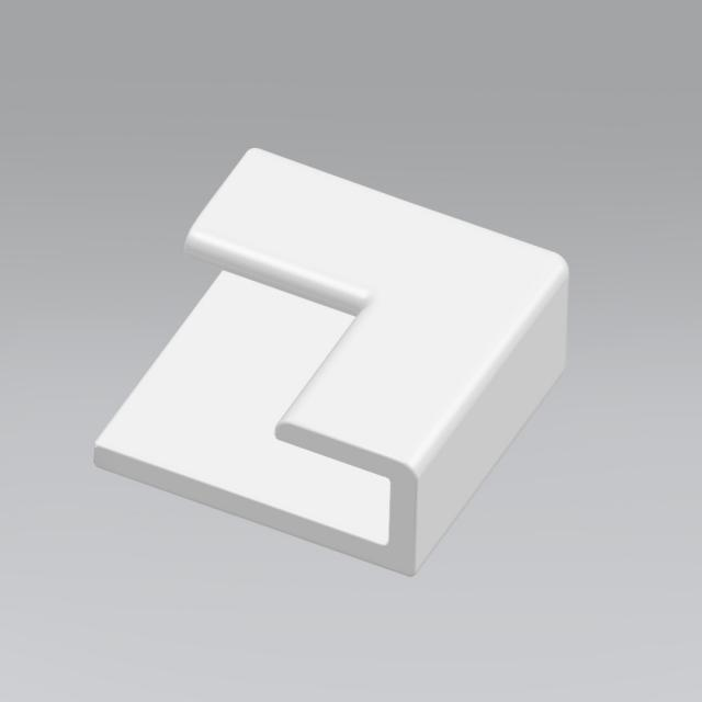 HÜPPE EasyStyle 2-fach-Stoß-Eckkappe weiß