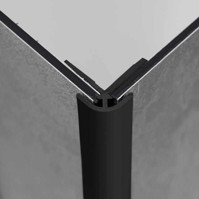 HÜPPE EasyStyle Eckprofil, außen black edition